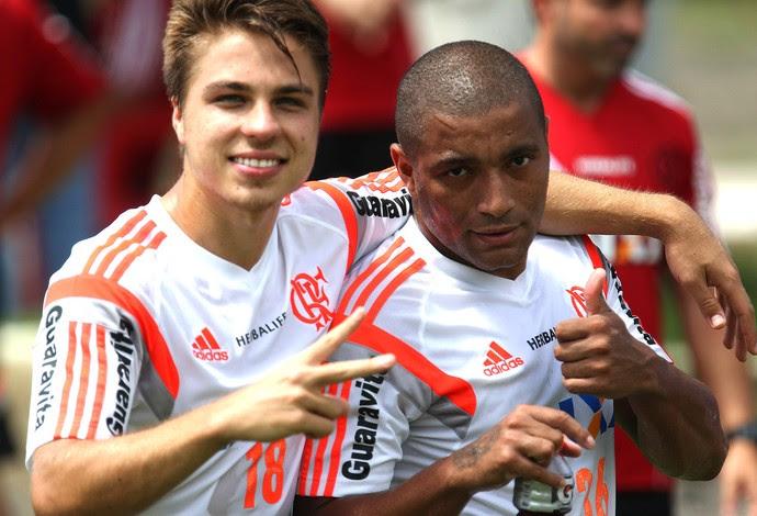 Igor Sartori e Anderson Pico, Treino Flamengo (Foto: Gilvan de Souza / Flamengo)