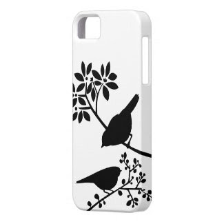 Black and White Birds iPhone 5 Covers