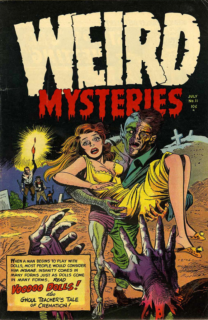 Weird Mysteries #11 Bernard Bailey Cover (Gillmor, 1954)