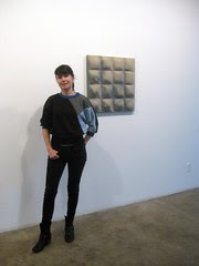 Fran Holstrom with Gina Beavers painting