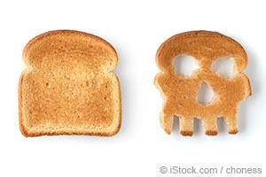 fatias de pão