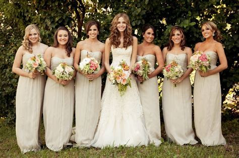 Dresses by Amsale/ color Champagne   Wedding Bridal Party