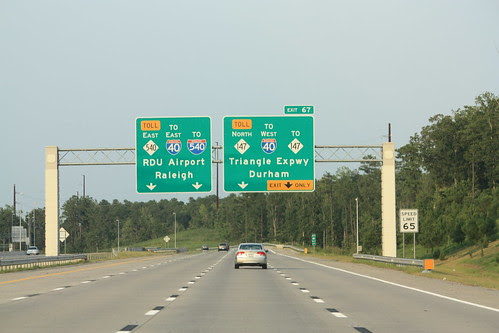 Overheads approaching Exit 67