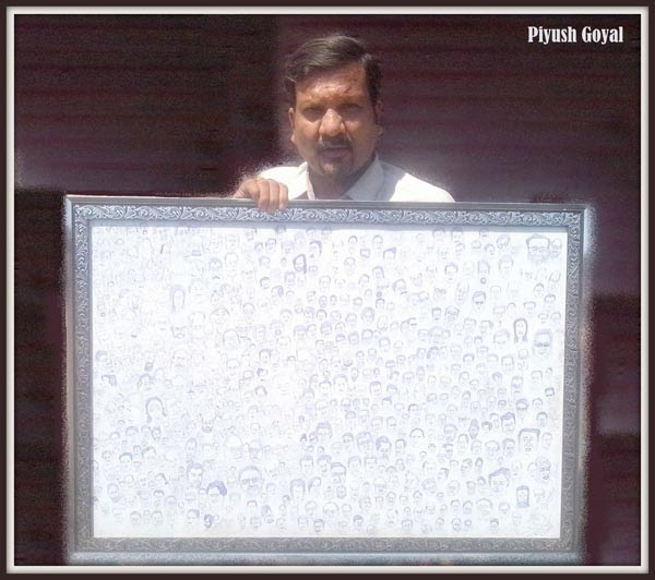 600 Caricatures in one Frame