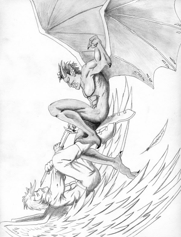 Good Vs Evil Drawing At Getdrawingscom Free For Personal Use Good
