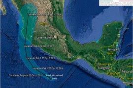 "La trayectoria del huracán ""Patricia"". Foto: Conagua"