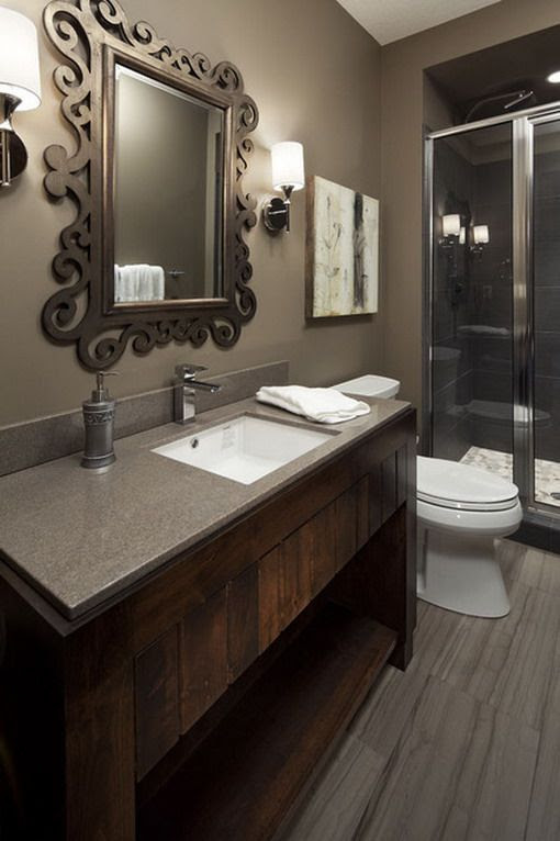 Dark Brown Bathroom Decoration Ideas | For the Home ...