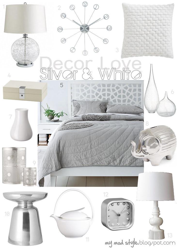 Decor Love Silver & White - Oct 2011