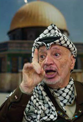 Yasser Arafat denied the existence of a Jewish Temple on the Temple Mount and accused the Israeli government of instigating attacks on the mosques there. (AP Photo)