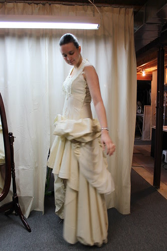 Muslin dress fitting