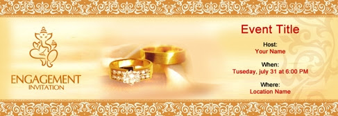 Free Engagement invitation with India