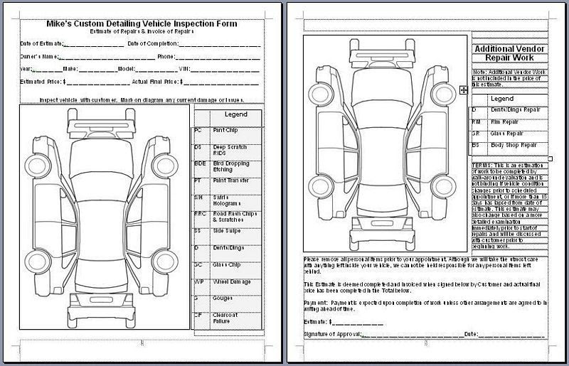 car wash inspection checklist