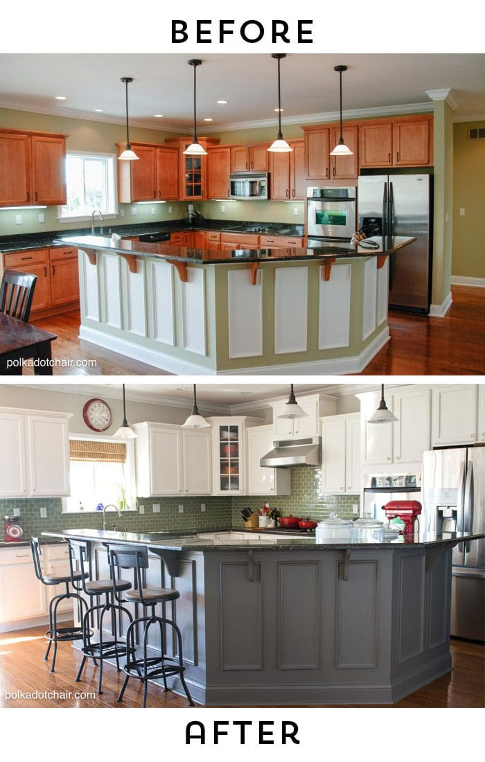 Painted Kitchen Cabinet Ideas and Kitchen Makeover Reveal ...
