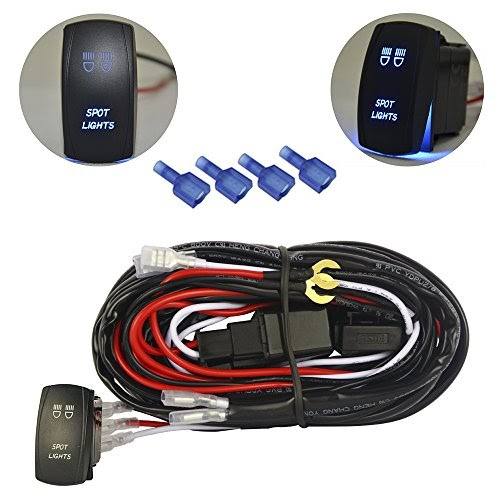 Mictuning Led Light Bar Wiring Harness 40amp Relay On