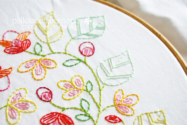 Love Grows Here embroidery pattern