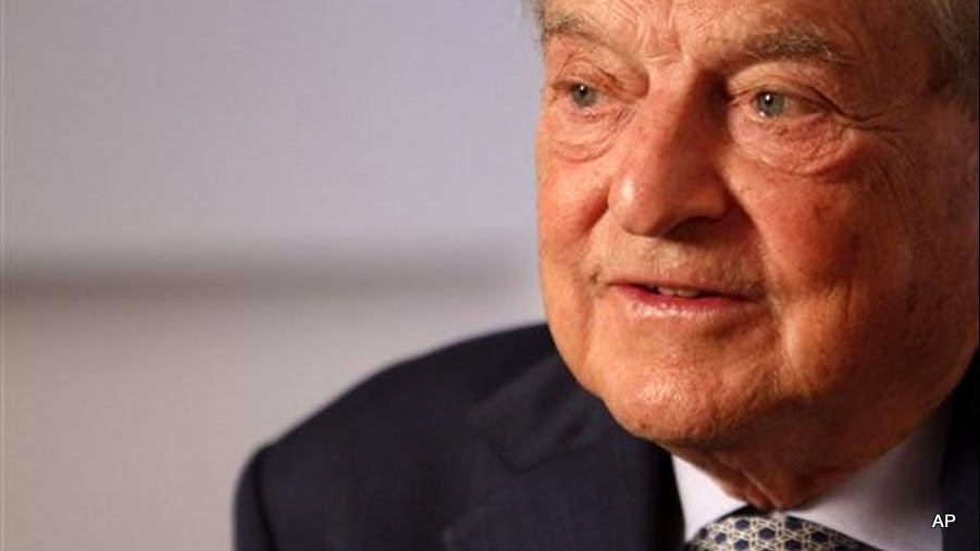 Philanthropist George Soros speaks during an interview with the Associated Press, Tuesday, Sept. 7, 2010, in New York.