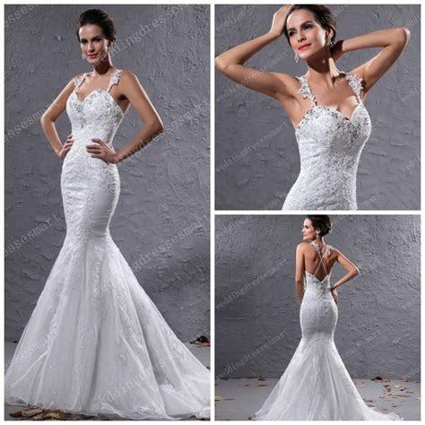 2014 Sexy Mermaid Bling Wedding Dresses Shiny Beaded