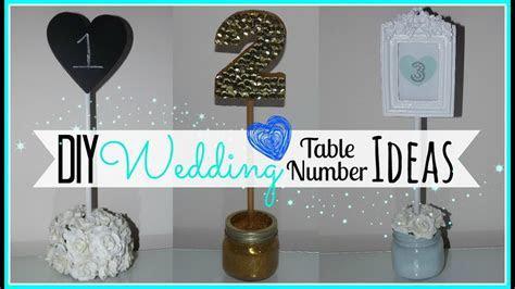DIY Wedding Table Number Ideas   Affordable!   Wedding
