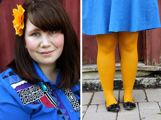 blog lovelymissmegs megan blog outfit ootd clothing thrifting tights dress