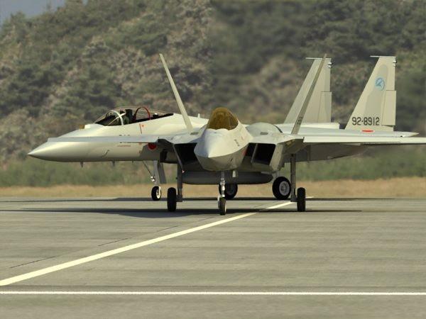 Comparación ATD-X con el avión F-15 en el que el reemplazo (Image: Aviationweek)