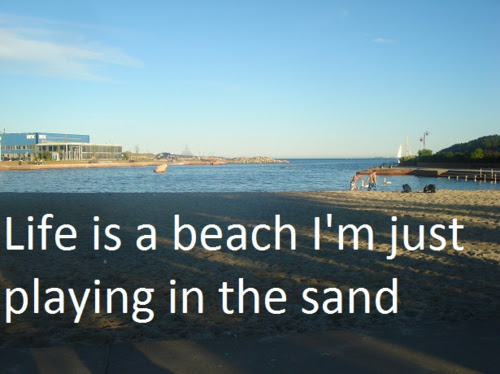 Life Is A Beach Im Just Playing In The Sand Lil Wayne Picture