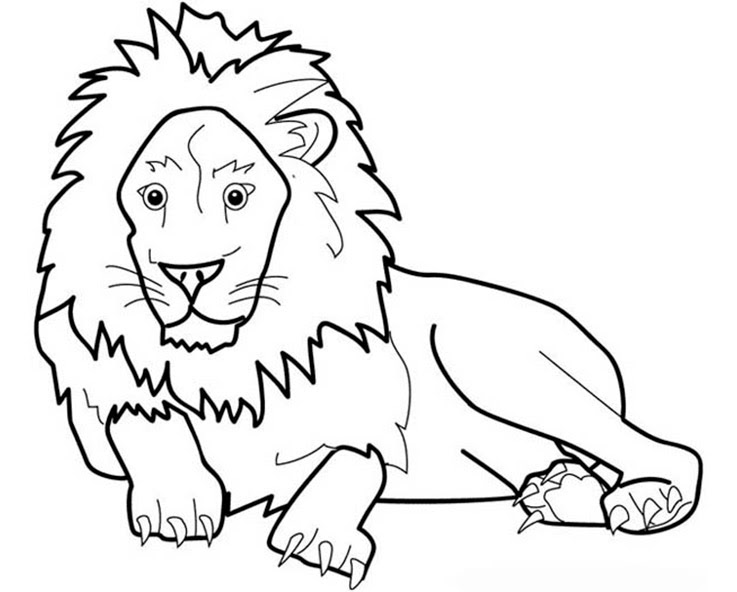 schöne malvorlagen ausmalbilder löwe ausdrucken 1  simple