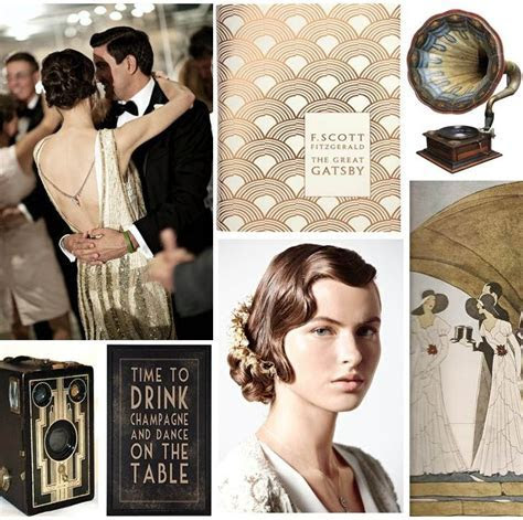 The Great Gatsby Art Deco Wedding Inspiration : Chic