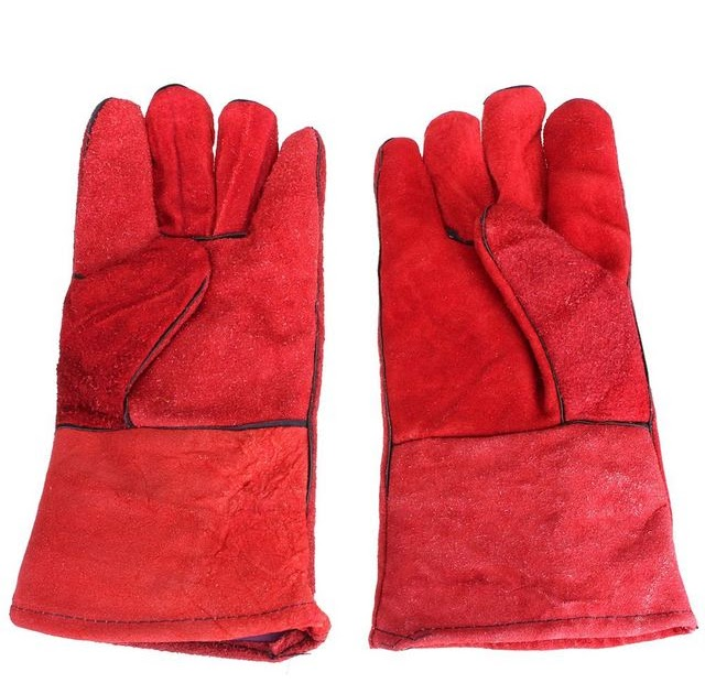 Safety Use Men/'s CushionCore Cowhide TIG MIG Welding Gloves Forearm Protection