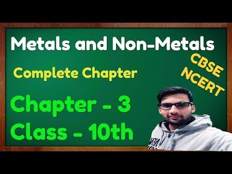 Notes C - 2, Metals and non metals