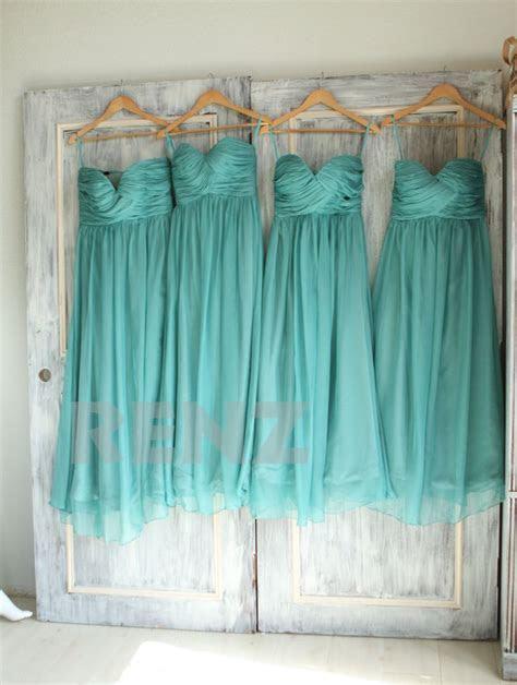2017 Teal Bridesmaid dress, Sweetheart Strapless Wedding