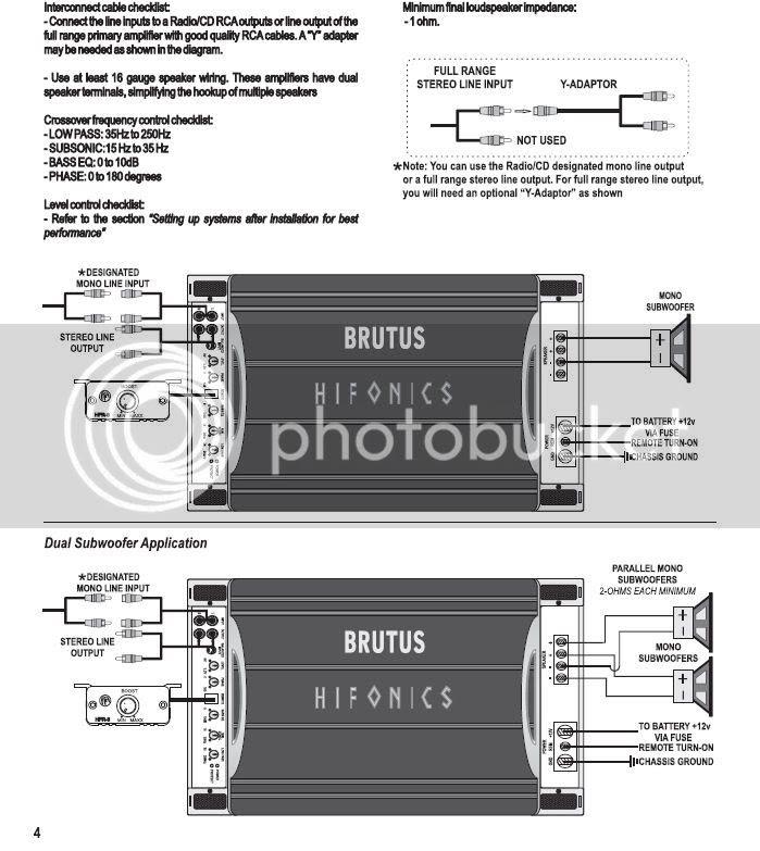Hifonics Brutus Amp Wiring Diagram, Mono Amp Wiring Diagram