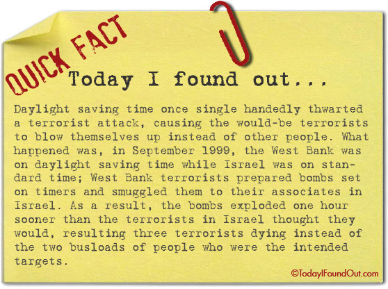Daylight Saving Time Once Thwarted A Terrorist Attack