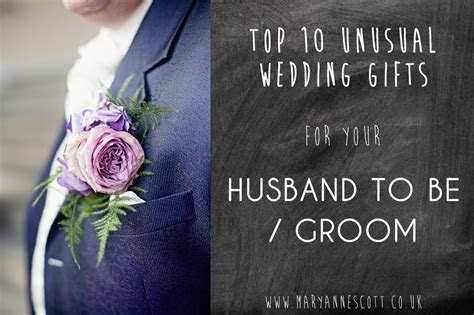 TOP 10 unusual wedding gifts for your Husband to be or