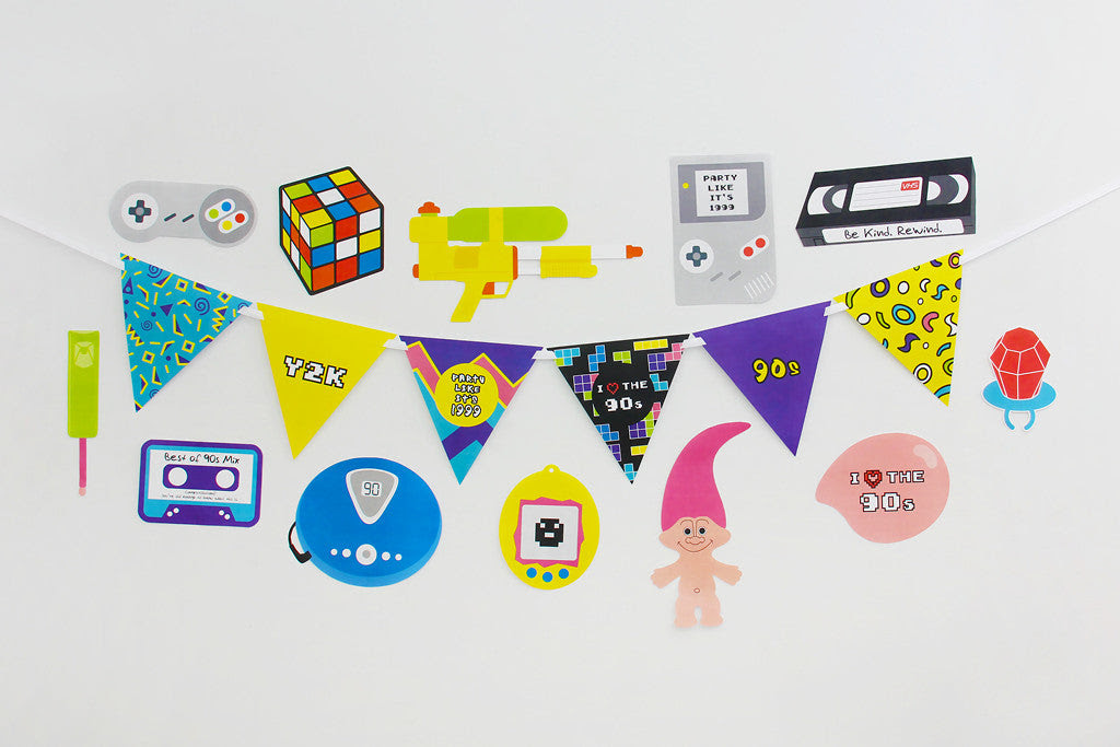90s Party Printable, Photo Booth Props   INSTANT DOWNLOAD ...