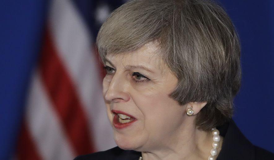 British Prime Minister Theresa May speaks at the Republicans Congressional retreat in Philadelphia, Thursday, Jan. 26, 2017. (AP Photo/Matt Rourke)