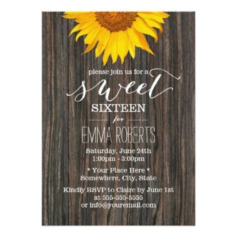 400 best images about Sunflower Birthday Party Invitations