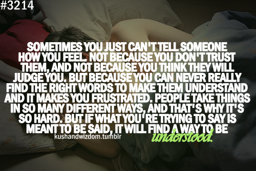 Sometimes You Just Cant Tell Someone How You Feel Not Because You