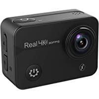 """Xmate Stunt Pro 16MP 4K@30fps Touch Screen Action Camera, 2"""" HD Display 170° Wide Lens, 40m Waterproof Case, 2.4G Remote & Accessories Kit, Long Battery, Micro SD Card Support Up to 128GB (Black)"""