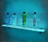 Lighted Wall Display Shelf (13 Image)