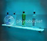 Lighted Wall Display Shelf (13 Image)