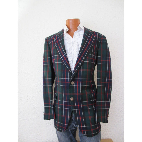 Vintage Men's Tartan Plaid Sportcoat Jacket 44 long