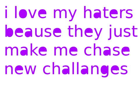 I Love All My Haters Quotes