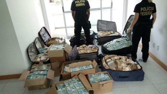 Bunker onde a Polícia Federal encontrou os R$ 51 milhões atribuídos a Geddel (Foto: Divulgação/PF