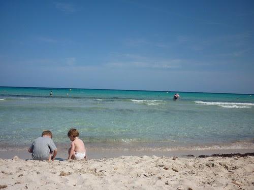 Majorca beach kids