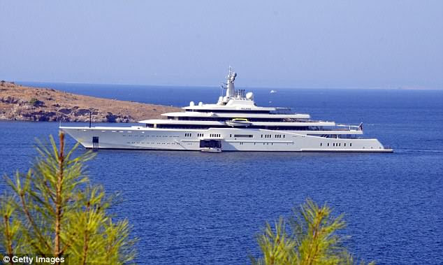 Eclipse, the private luxury yacht of Russian billionaire Roman Abramovich, pictured in Turkey