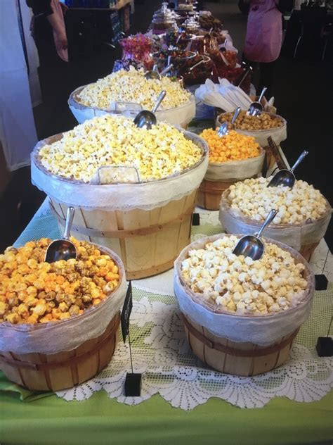 Popcorn bar / sweets table set up idea! Visit PopcornDUDE