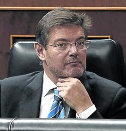El ministro Rafael Catalá, en el Congreso.