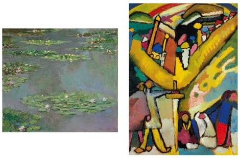 Los lienzos de Monet y Kandinski subastados. | Efe