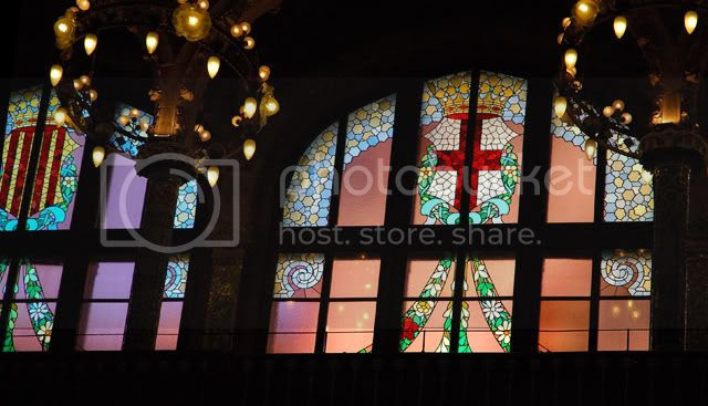 Stained Glass Windows at Palau de la Musica