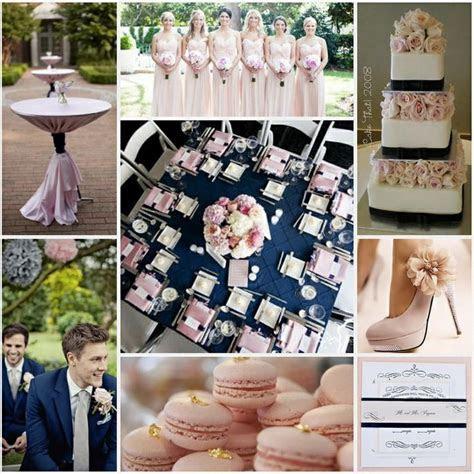Navy & blush pink wedding   modern glamour.   Pink